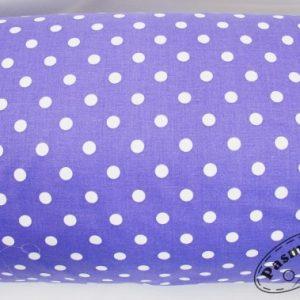Tkanina bawełniana grochy ciemny fiolet