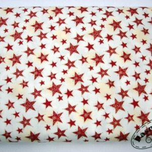 Tkanina bawełniana bordowe gwiazdki ze złotem