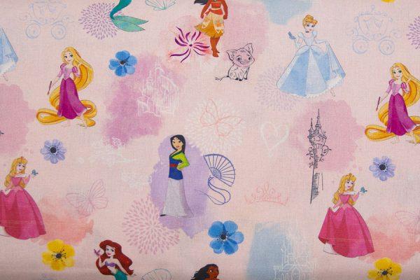 Disney Księżniczki na pastelach – tkanina bawełniana