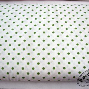 Tkanina bawełniana kropki avokado na bieli