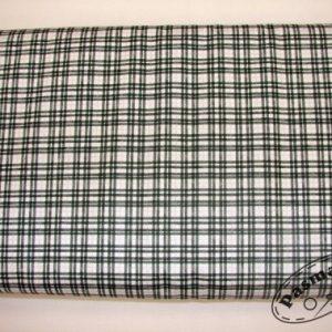 Tkanina bawełniana kratka zielono-srebrna