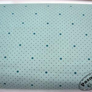 Tkanina bawełniana - kropeczki i kropki na brudnej zieleni