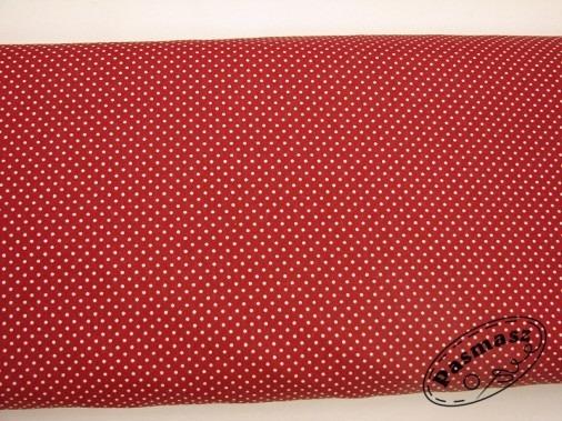 Kropeczki na czerwieni - tkanina bawełniana