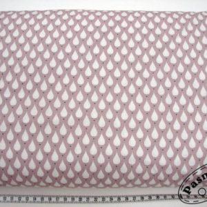 Tkanina bawełniana krople na lila