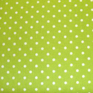 Kropki na limonce - tkanina bawełniana