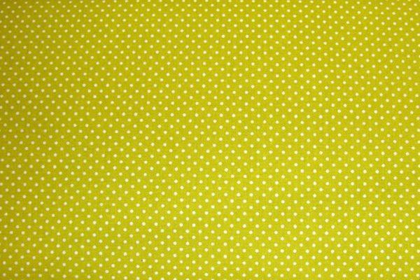 Kropeczki na limonce - tkanina bawełniana