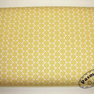 Tkanina bawełniana miodowa mozaika