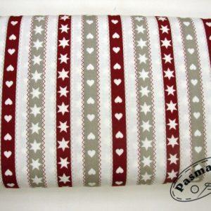 Świąteczne pasy - tkanina bawełniana