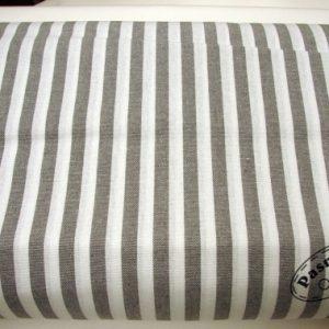 Tkanina bawełniana tkana pasy szare