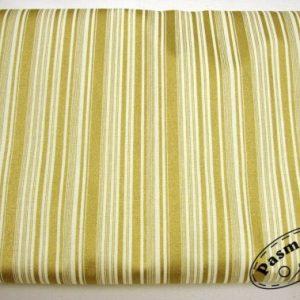 Tkanina bawełniana złote paski na ecru