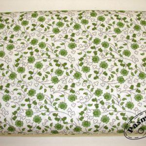 Tkanina bawełniana zielone kwiecie